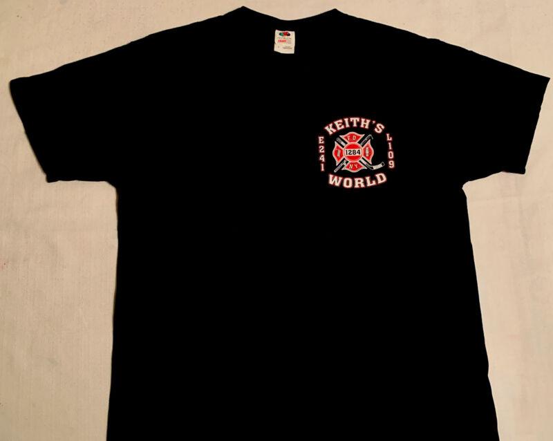 FDNY NYC Fire Department New York City T- Shirt Sz L Engine 241 Brooklyn