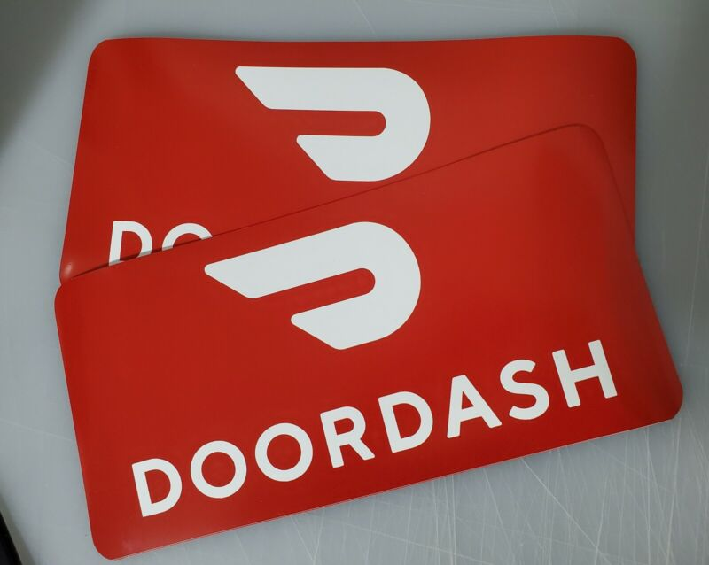 Doordash Red Car Magnet Magnetic Auto Truck Removable Signs
