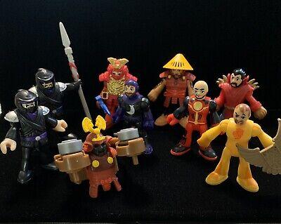 IMAGINEXT/LOT of 8/RED SAMURAI/NINJA/Armor/FISHER PRICE/Warrior/Asian/Knights