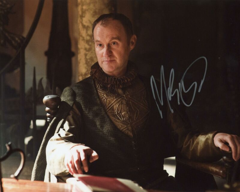 """Mark Gatiss """"Game of Thrones"""" AUTOGRAPH Signed 8x10 Photo B ACOA"""