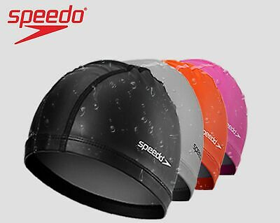 SPEEDO PACE SWIM CAP ADULTS LYCRA STYLISH STITCHING ZERO TUG NON-SLIP SWIMMING Lycra Swim Cap