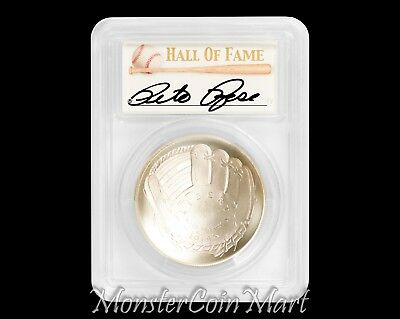2014-P $1 Baseball Hall of Fame PCGS MS70 - PETE ROSE AUTOGRAPHED