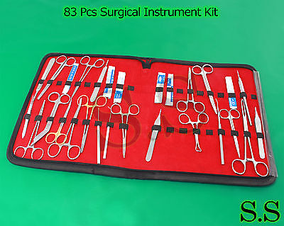 83 Pcs O.r Surgical Instrument Kit Survival Emergency First Aid Military Case