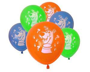 Scooby Doo theme Latex Balloons x 6 Birthday Party Decoration