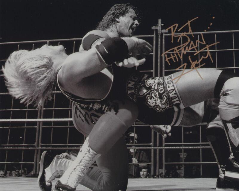 BRET THE HITMAN HART SIGNED WWE WWF 8X10 PHOTO 18