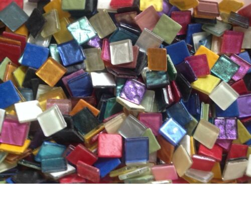 Glass Mosaic Tiles - MIXED METALLIC AND IRIDESCENT METALLIC - 100 - 3/8 inch