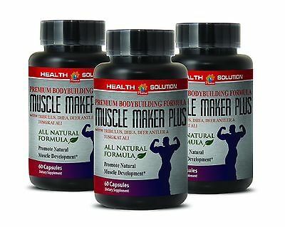 Octacosanol   Muscle Maker Plus   Sexual Health   Lean Muscle   3Bot 180Ct