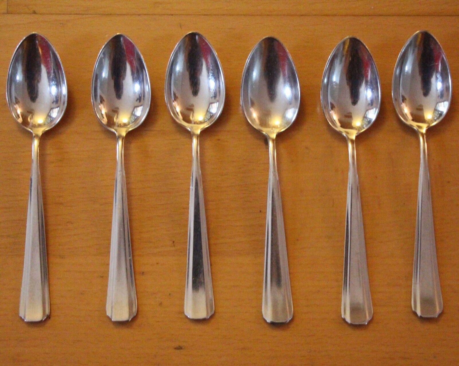 Teelöffel für 6 Personen Desert Kaffelöffel Silber Metall