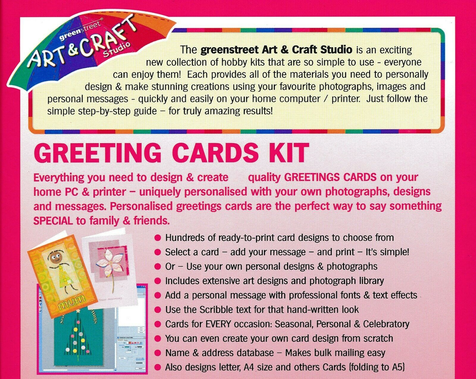 ART & CRAFT - Greetings Cards Studio - Birthday Maker PC Software (CD in Sleeve) 2