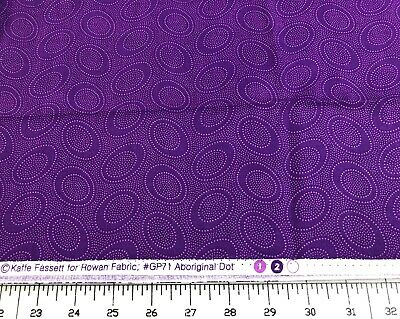1/2 Yard Kaffe Fassett For Rowan Westminster Fibers GP71 Aboriginal Dot, Purple