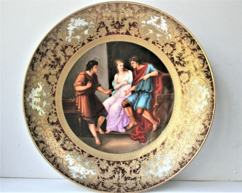 LARGE ANTIQUE VIENNA STYLE PLATE