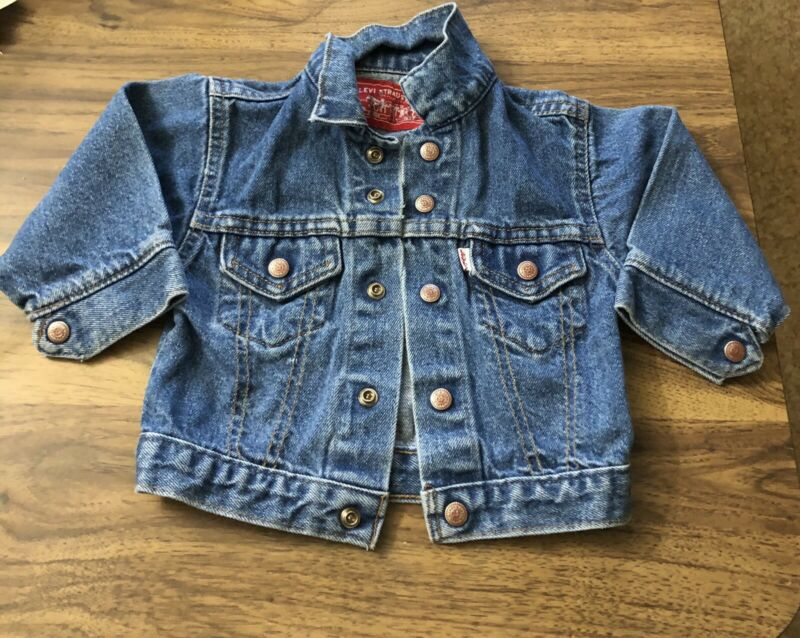 Vintage 80's 90's  USA Little Levi's Toddler 24 Month Denim Jean Jacket Trucker