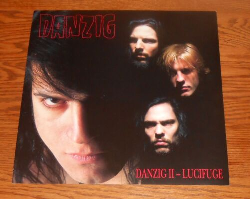 Danzig II – Lucifuge Poster 2-Sided Flat 1990 Promo 12x12 The Misfits RARE