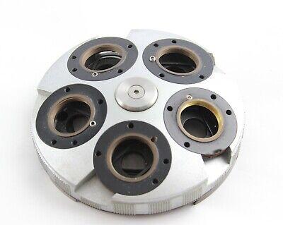 Zeiss Axioplan Axiophot Dic Quintuple Objective Turret Microscope 453176