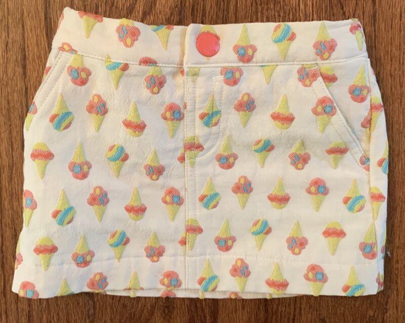 Osh Kosh Genuine Kids Baby Girls Skirt Ice Cream Cones Elastic Waist Size 12m