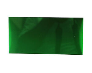 2pc Acrylic sheet 200x100x2mm Transparent Green Taiwan