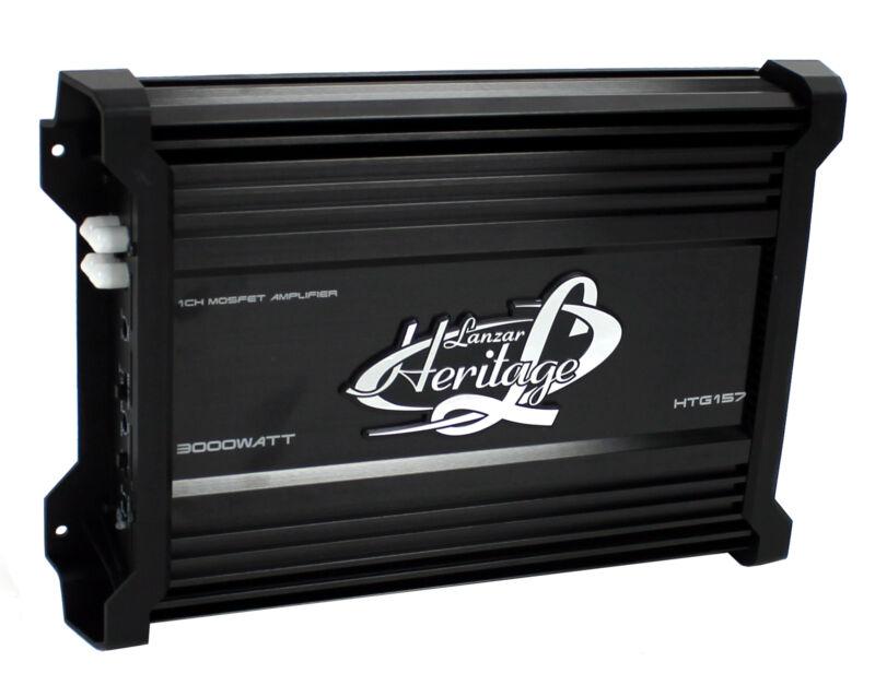 Lanzar HTG157 3000W Mono MOSFET Car Audio Power Amplifier Amp Stereo 2 Ohm
