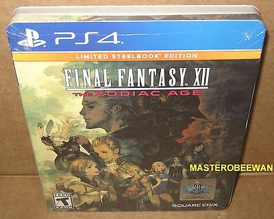Ps4 Final Fantasy Xii  The Zodiac Age Limited Steelbook Edition New Sealed