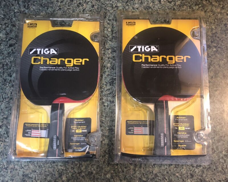 Stiga Charger Performance Ping Pong Paddle NEW Lot Of 2 FREE SHIPPING