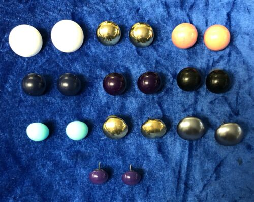 Mixed Lot of Round Button Stud Earrings 10 Pairs Fashion Jewelry
