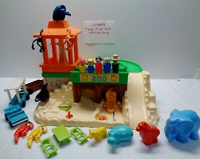 VINTAGE Fisher Price Little People PLAY FAMILY ZOO ANIMALS & ACCESSORIES 100%