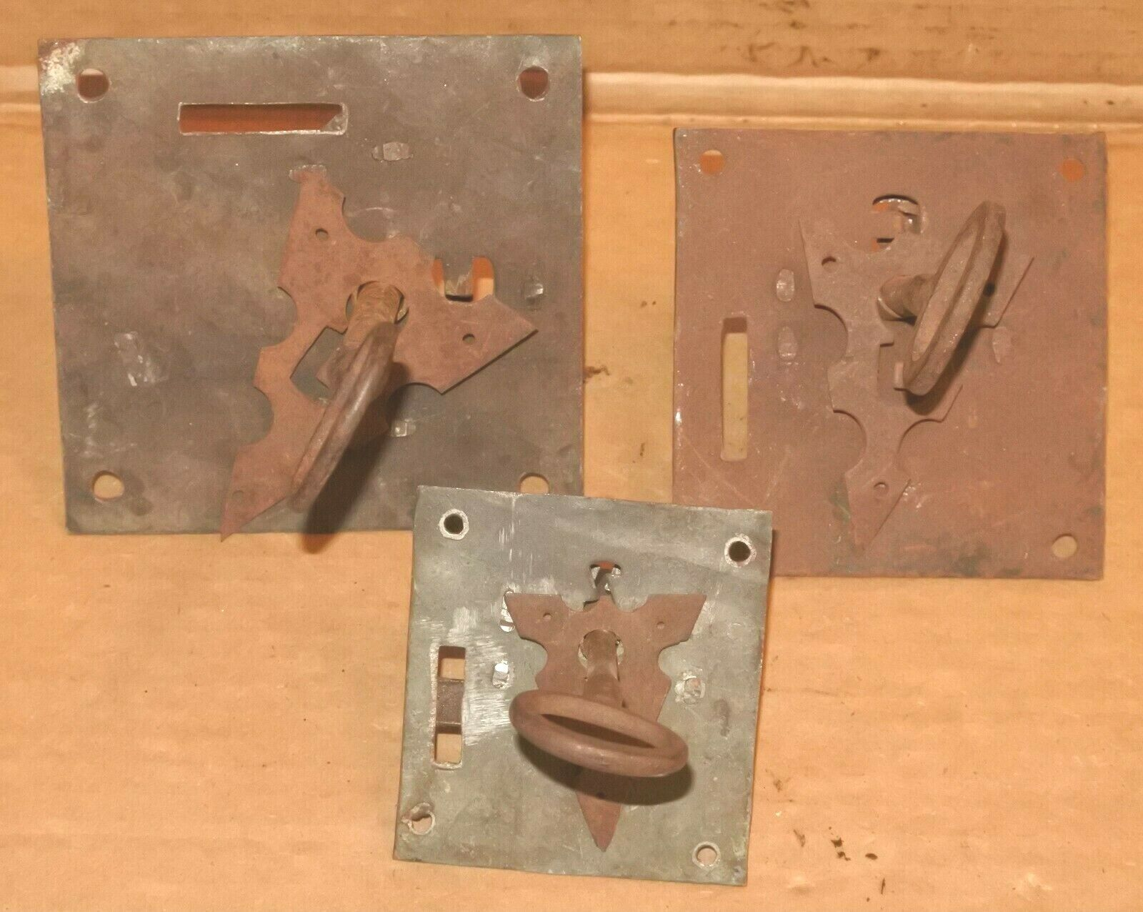 Lot Of Antique Old Skeleton Lock With Keys For Parts Project - $14.99