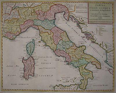 Tabula Italiae Antiquae - Italien, Römisches Reich von Guillaume Delisle - 1721