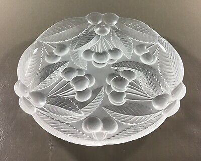 "Bountiful Frosted Raised Cherries Design by Mikasa Crystal 7.5"" Plate"