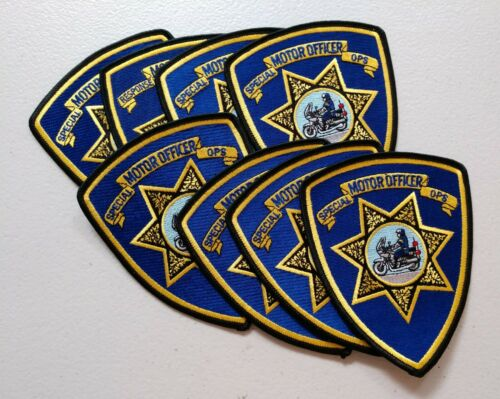 Trader lot of 8 New Jersey Motor Officer Special Ops patches - postpaid