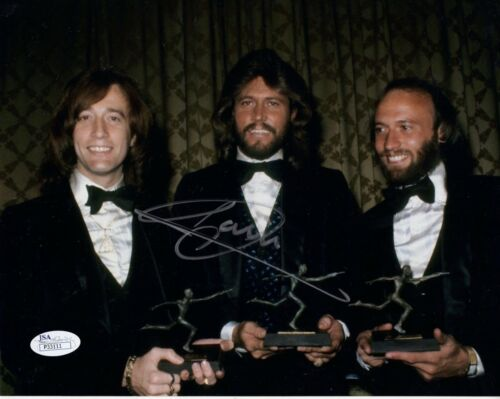 BARRY GIBB HAND SIGNED 8x10 COLOR PHOTO      BEST BEE GEES PHOTO EVER        JSA