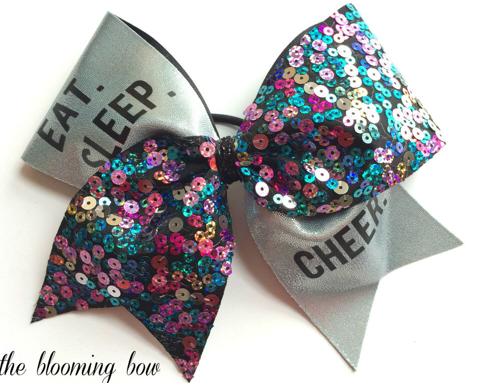 how to make cheerleading hair bows