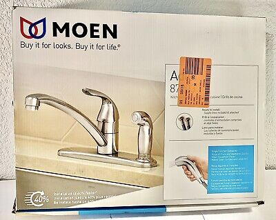 Moen Adler One-Handle Kitchen Faucet with Side Spray - Chrome 87203