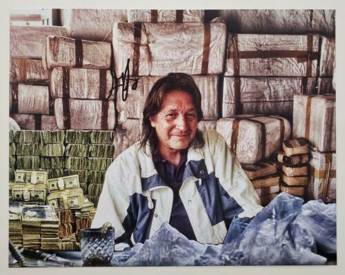 George Jung Signed 11x14 Photo Blow Famous Drug Smuggler Boston LEGEND RAD