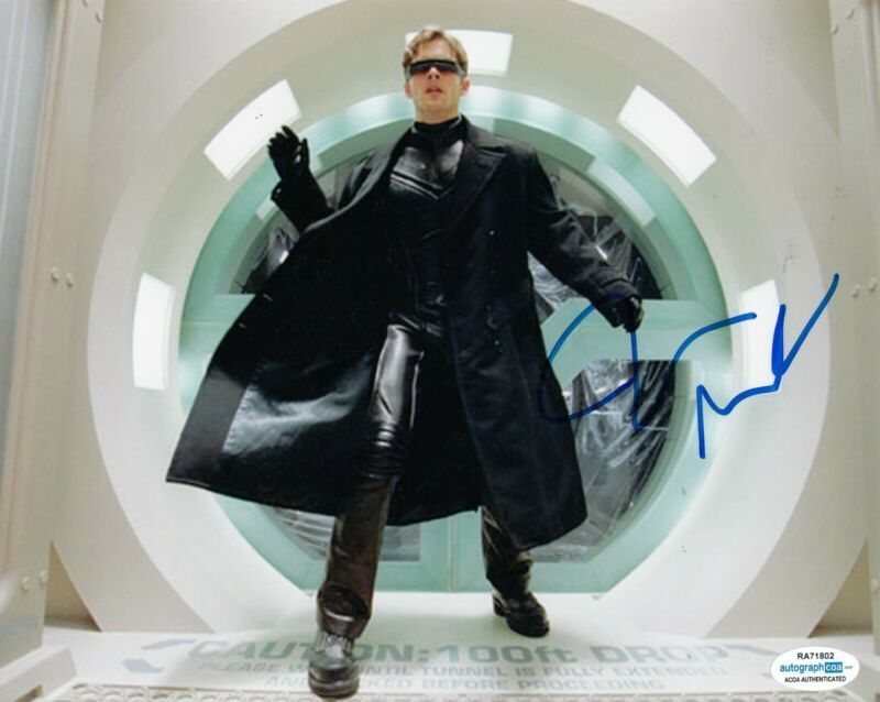 JAMES MARSDEN signed (X-MEN) Movie 8x10 photo *Scott Summers Cyclops* ACOA #2