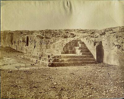 Athens, Greece, Acropolis site with stairs Vintage Albumen photo, c. 1880
