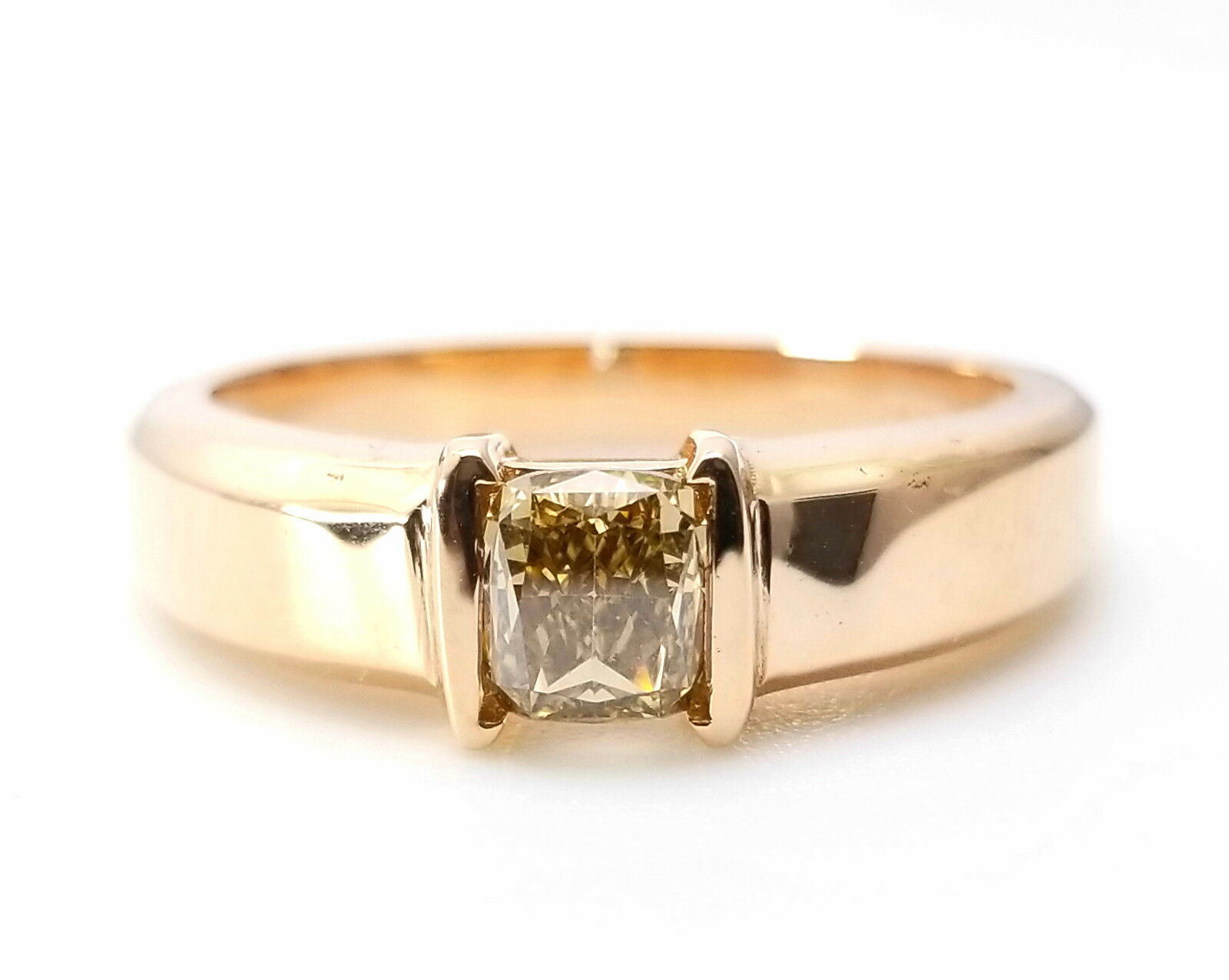 Whiskey Diamond - VS1 Men's Unisex Ring 1.00ct Natural Fancy Brown GIA 18K Gold 3