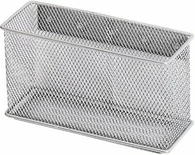 Ybmhome Wire Mesh Magnetic Storage Basket Container Silver 2305 Large