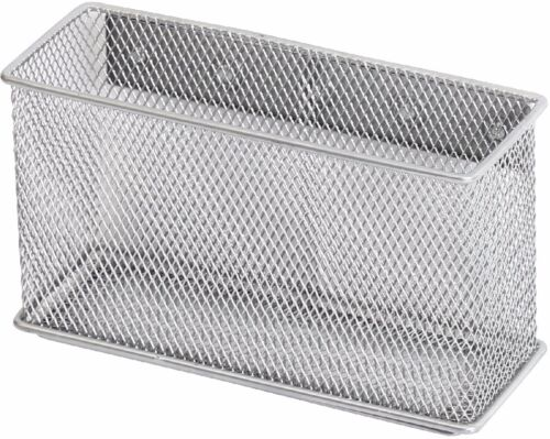 Ybmhome Wire Mesh Magnetic Storage Basket, Container, Silver 2305  Large