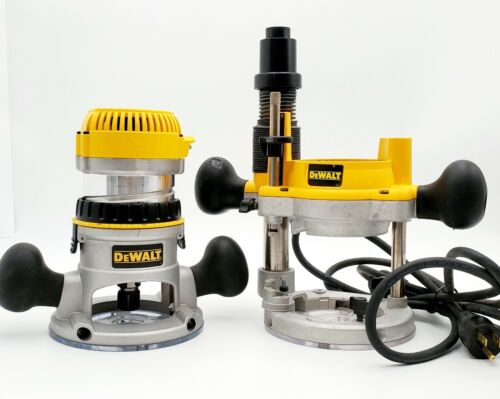 Dewalt DW616 Router with fixed and plunge base