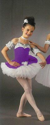 Short LAVENDER & LACE Ballet Tutu Dance Costume XS,CS,6X7,CM,CL,AS HALLOWEEN (Halloween Ballet Dance)