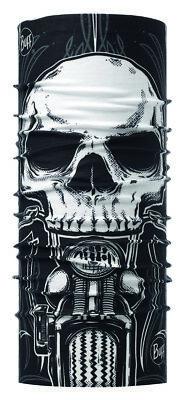 BUFF® Multifunktionstuch Schädel, schwarz-weiß, Polyester, one size