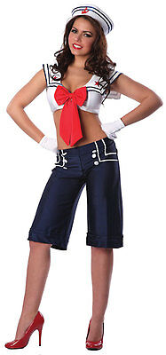 Miss Cracker Jack Sailor Girl USA Navy Sexy Dress Up Halloween Adult Costume - Miss Usa Halloween Costume