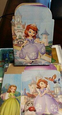 Princess Sofia The First Favor Boxes Treat Loot Bags *SET OF 10* Party Favors  (Sofia The First Favor Bags)