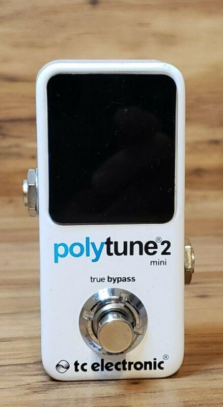 TC Electronic PolyTune 2 Mini Polyphonic Chromatic Guitar Tuner Pedal