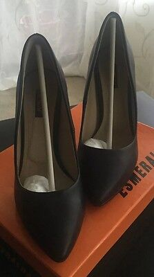 Women's Classic Shoes Black Color Size 9 Formal Leather (Black Womens Formal Shoes)