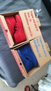 Size 13 Vans Sk8-Hi Triple red + triple blue
