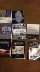 1st and 2nd year business texbooks Nscc/University