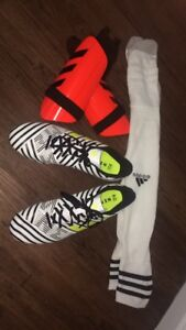 New Soccer Cleats and Shin Guards