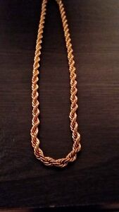 Gold plated rope chain