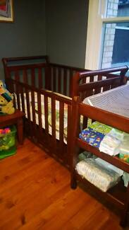 Babyhood 3 in 1 Sleigh cot, change table and deluxe matress Elizabeth Vale Playford Area Preview